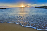 Sunset Above Kawakiu Nui Beach on Molokai's West End Photographic Print by Richard A. Cooke