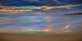 Panoramic of Sunrise Above Kawa'Aloa Bay on Molokai's North Shore Photographic Print by Richard A. Cooke