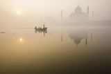 The Taj Mahal across the Yamuna River Photographic Print by Nevada Wier
