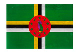 Dominica Flag Design with Wood Patterning - Flags of the World Series Prints by Philippe Hugonnard