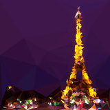Low Poly Paris Art - The Eiffel Tower II Posters by Philippe Hugonnard