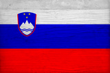Slovenia Flag Design with Wood Patterning - Flags of the World Series Prints by Philippe Hugonnard