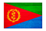 Eritrea Flag Design with Wood Patterning - Flags of the World Series Prints by Philippe Hugonnard
