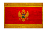 Montenegro Flag Design with Wood Patterning - Flags of the World Series Prints by Philippe Hugonnard