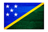 Solomon Islands Flag Design with Wood Patterning - Flags of the World Series Art by Philippe Hugonnard