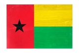 Guinea-Bissau Flag Design with Wood Patterning - Flags of the World Series Posters by Philippe Hugonnard