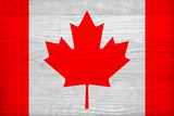 Canada Flag Design with Wood Patterning - Flags of the World Series Prints by Philippe Hugonnard