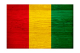 Guinea Flag Design with Wood Patterning - Flags of the World Series Prints by Philippe Hugonnard