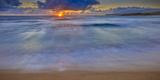 Sunrise Above Kawa'Aloa Bay on Molokai's North Shore Photographic Print by Richard A. Cooke