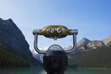 Viewing Binocular at Lake Louise in Alberta, Canada Photographic Print by John Burcham