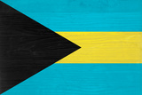 Bahamas Flag Design with Wood Patterning - Flags of the World Series Posters by Philippe Hugonnard