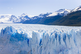 Deep Blue Cracks Line the Front Wall of the Perito Moreno Glacier Photographic Print by Mike Theiss