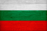 Bulgaria Flag Design with Wood Patterning - Flags of the World Series Prints by Philippe Hugonnard