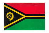 Vanuatu Flag Design with Wood Patterning - Flags of the World Series Print by Philippe Hugonnard