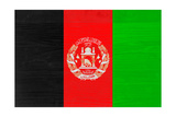 Afghanistan Flag Design with Wood Patterning - Flags of the World Series Prints by Philippe Hugonnard