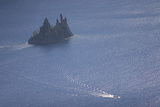 Phantom Ship in Crater Lake in Crater Lake National Park, Oregon Photographic Print by Philip Schermeister
