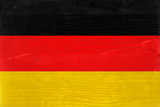 Germany Flag Design with Wood Patterning - Flags of the World Series Art by Philippe Hugonnard