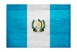 Guatemala Flag Design with Wood Patterning - Flags of the World Series Print by Philippe Hugonnard