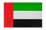United Arab Emirates Flag Design with Wood Patterning - Flags of the World Series Art by Philippe Hugonnard