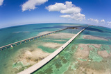 Aerial View of the Seven Mile Bridge Near Marathon Island in the Florida Keys Photographic Print by Mike Theiss