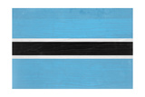 Botswana Flag Design with Wood Patterning - Flags of the World Series Posters af Philippe Hugonnard