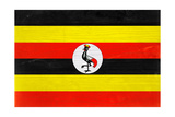Uganda Flag Design with Wood Patterning - Flags of the World Series Plakater af Philippe Hugonnard