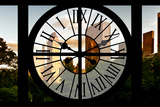 Giant Clock Window - View of Central Park Buildings at Sunset II Photographic Print by Philippe Hugonnard