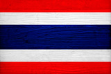 Thailand Flag Design with Wood Patterning - Flags of the World Series Prints by Philippe Hugonnard