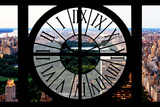 Giant Clock Window - View of Central Park III Photographic Print by Philippe Hugonnard
