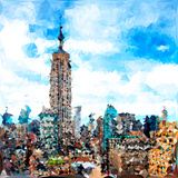 Low Poly New York Art - Empire State Building II Posters by Philippe Hugonnard