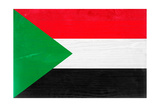 Sudan Flag Design with Wood Patterning - Flags of the World Series Plakater af Philippe Hugonnard