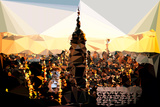 Low Poly New York Art - Empire State Building Sunset Prints by Philippe Hugonnard