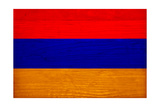 Armenia Flag Design with Wood Patterning - Flags of the World Series Posters by Philippe Hugonnard