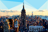 Low Poly New York Art - Skyline Sunset Prints by Philippe Hugonnard