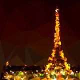 Low Poly Paris Art - The Eiffel Tower Prints by Philippe Hugonnard