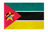 Mozambique Flag Design with Wood Patterning - Flags of the World Series Posters by Philippe Hugonnard
