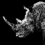 Low Poly Safari Art - Rhino - Black Edition III Plakater af Philippe Hugonnard
