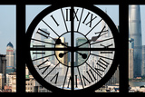 Giant Clock Window - View of Downtown Shanghai - China Photographic Print by Philippe Hugonnard