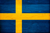Sweden Flag Design with Wood Patterning - Flags of the World Series Posters by Philippe Hugonnard