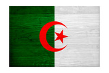 Algeria Flag Design with Wood Patterning - Flags of the World Series Plakater af Philippe Hugonnard