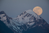 A Full Moon Above the Chugach Mountains Photographic Print by Michael Quinton