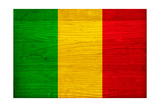 Mali Flag Design with Wood Patterning - Flags of the World Series Prints by Philippe Hugonnard