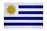 Uruguay Flag Design with Wood Patterning - Flags of the World Series Poster by Philippe Hugonnard