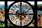 Giant Clock Window - View of Central Park with Hudson River at Sunset Photographic Print by Philippe Hugonnard