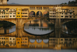 A Crowd of Tourists on the Ponte Vecchio in Florence, Italy Photographic Print by Matt Propert