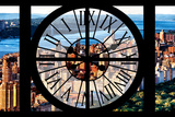 Giant Clock Window - View of Central Park with Hudson River Photographic Print by Philippe Hugonnard