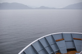 Horizon of Alaska's Inside Passage Is Seen from the Bow of a Cruise Ship Photographic Print by Erika Skogg