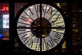 Giant Clock Window - View of Downtown Shanghai by Night - China Photographic Print by Philippe Hugonnard