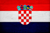 Croatia Flag Design with Wood Patterning - Flags of the World Series Prints by Philippe Hugonnard