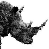Low Poly Safari Art - Rhino - White Edition II Plakater af Philippe Hugonnard